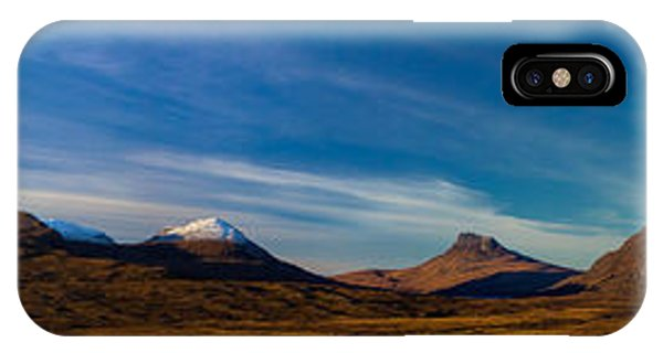 Mountains Of Assynt Panorama Phone Case by Derek Beattie