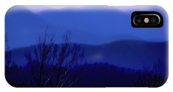Mountains Of Blue IPhone Case