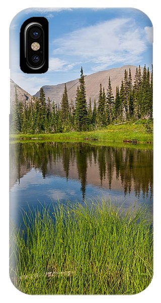 Mountains Reflected In An Alpine Lake IPhone Case