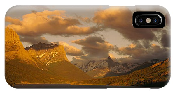 Glacier Bay iPhone Case - Mountains Surrounding A Lake, St. Mary by Panoramic Images