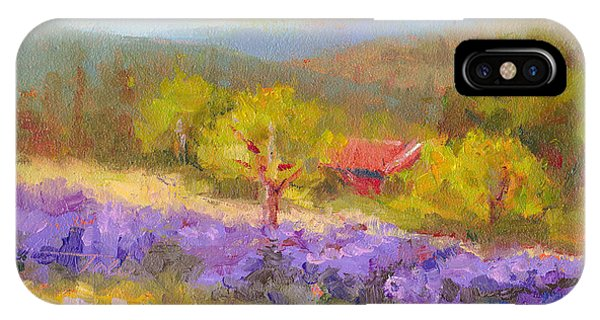 Mountainside Lavender   IPhone Case