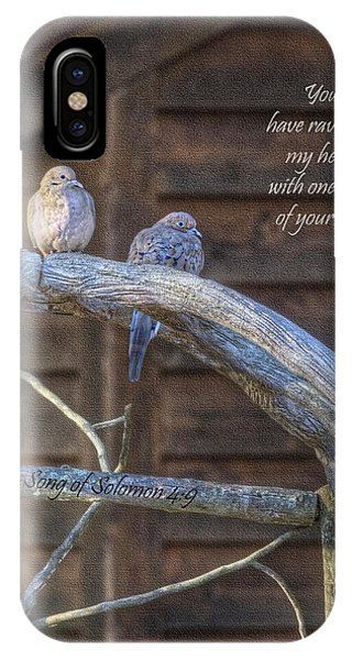 Mourning Doves Phone Case by Cheryl Birkhead