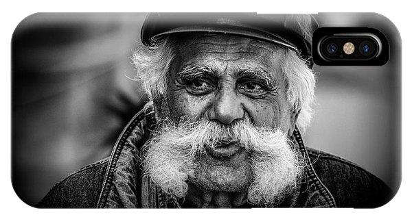 Moustache iPhone Case - Moustache Man by Rabia Basha