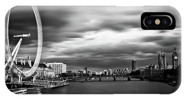 London Eye iPhone Case - Movement by Arthit Somsakul