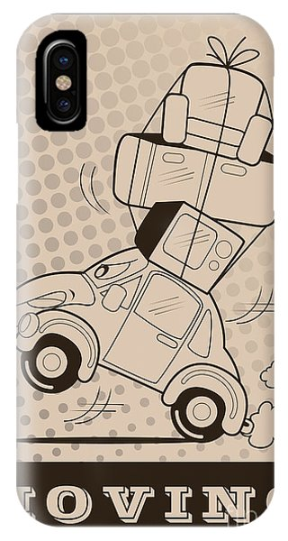 Truck iPhone X Case - Moving Car by Fun Way Illustration