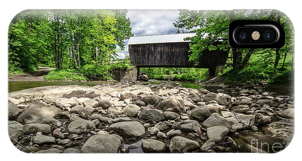 Covered Bridge iPhone Case - Moxley Covered Bridge Chelsea Vermont by Edward Fielding
