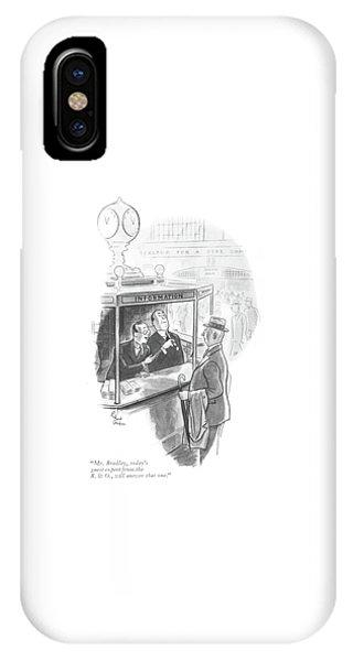 Mr. Bradley IPhone Case