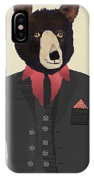 Mr Grizzly Bear IPhone Case