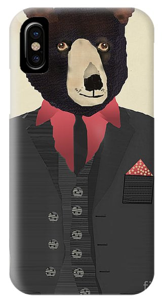 Mr Grizzly IPhone Case
