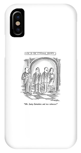 Mr. Larry Carruthers And Two Witnesses IPhone Case