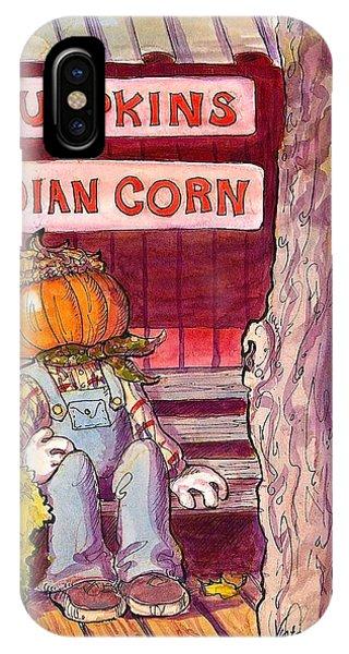Mr. Pumpkin IPhone Case