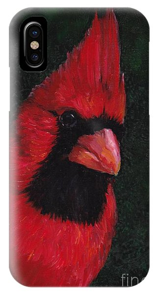 Mr Red Cardinal Phone Case by Charlotte Yealey