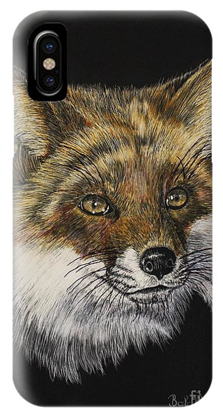 Mr. Red Fox IPhone Case