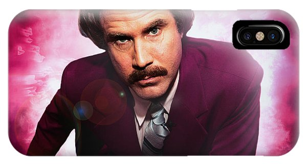 Mr. Ron Mr. Ron Burgundy From Anchorman IPhone Case