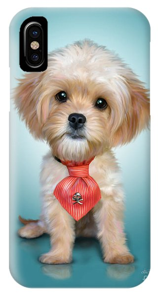 Mr. Toby Waffles The Cavapoo IPhone Case