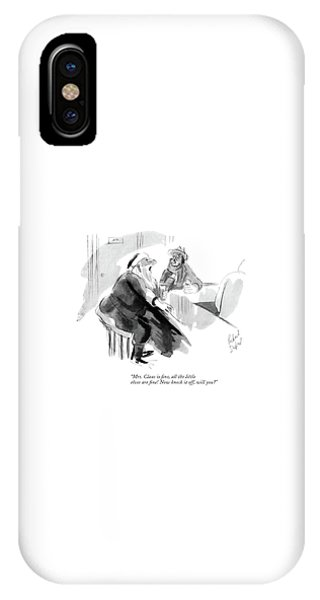 Pub iPhone Case - Mrs. Claus Is ?ne by Richard Decker