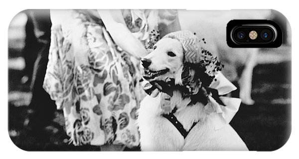 Mrs. Coolidge And Her Dog IPhone Case