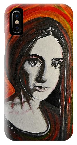 Portrait In Black #x IPhone Case