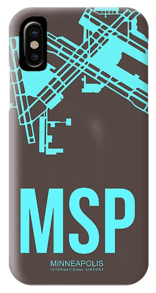 Minnesota iPhone Case - Msp Minneapolis Airport Poster 1 by Naxart Studio