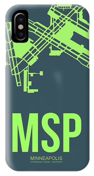 Minnesota iPhone Case - Msp Minneapolis Airport Poster 2 by Naxart Studio