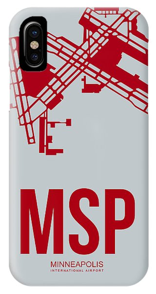 Minnesota iPhone Case - Msp Minneapolis Airport Poster 3 by Naxart Studio