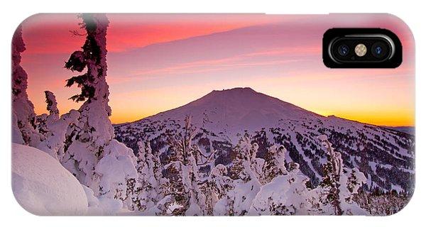Mt. Bachelor Winter Twilight IPhone Case