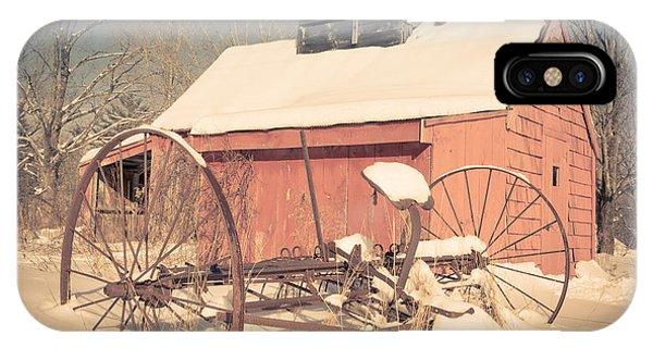 New Hampshire iPhone Case - Mt. Cube Farm Old Sugar Shack by Edward Fielding