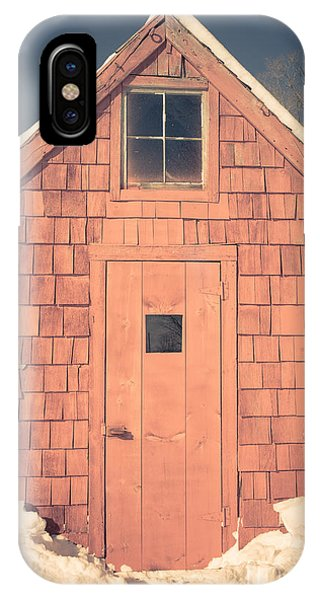 New England Barn iPhone Case - Mt. Cube Sugar Shack Orford New Hampshire by Edward Fielding