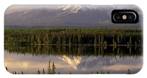 Mt Drum Over Willow Lake Wrangell-st IPhone Case