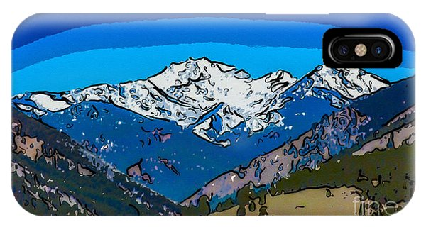 IPhone Case featuring the painting Mt Gardner In The Spring Abstract Painting  by Omaste Witkowski