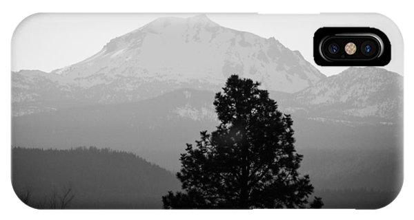 Mt. Lassen With Tree IPhone Case