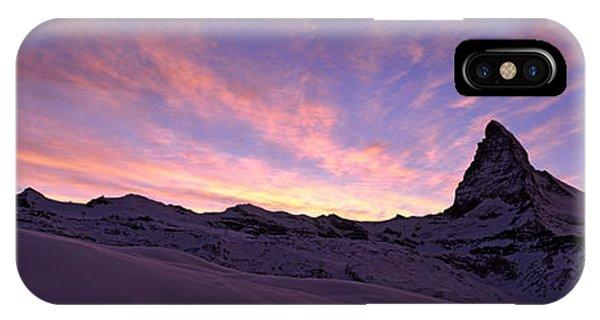 Mt Matterhorn At Sunset, Riffelberg IPhone Case
