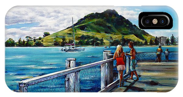 Mt Maunganui Pier 140114 IPhone Case
