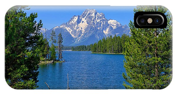 Mt Moran At Half Moon Bay IPhone Case