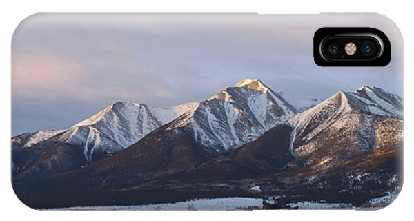 Fourteener iPhone Case - Mt. Princeton Panorama by Aaron Spong