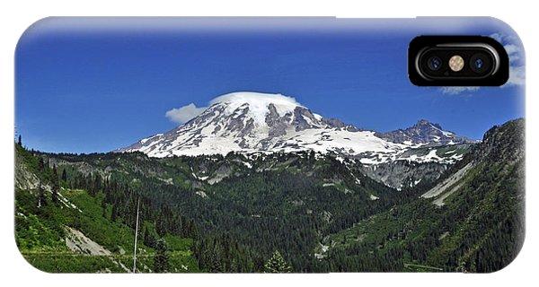 Mt Rainier Between The Valley IPhone Case