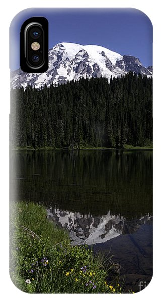 Mt Rainier From Reflection Lake IPhone Case