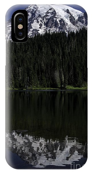 Mt Rainier Reflected In Reflection Lake IPhone Case