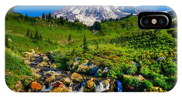 Mt. Rainier Stream IPhone Case