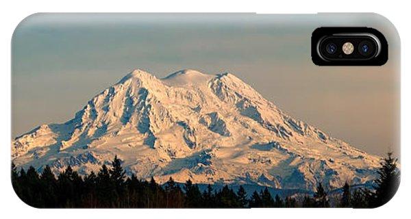 Mt Rainier Winter Panorama IPhone Case
