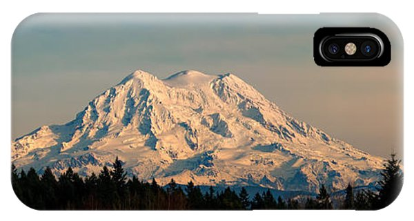 Mt Rainier Winter Panorama IPhone Case