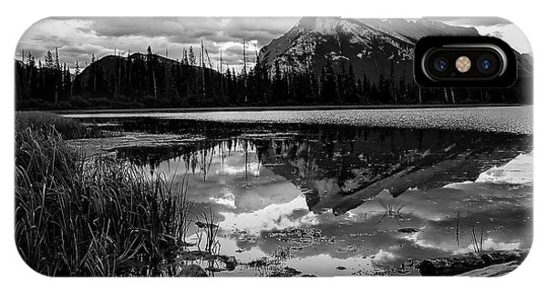 Mt. Rundle Reflection IPhone Case