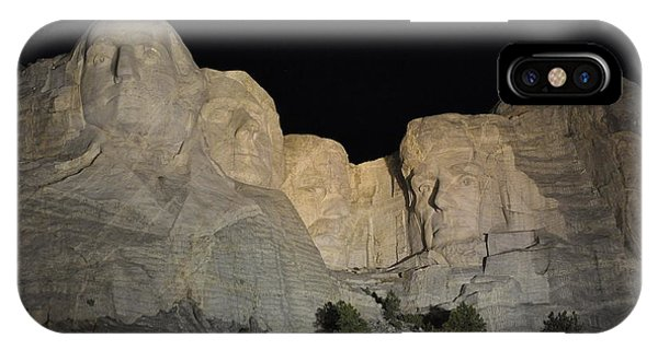 Mt. Rushmore At Night IPhone Case