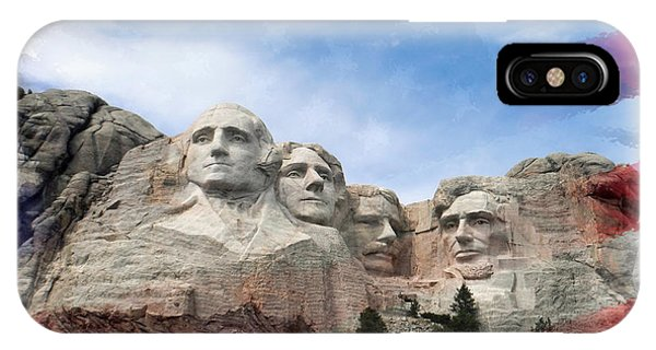 Mt Rushmore Flag Frame IPhone Case