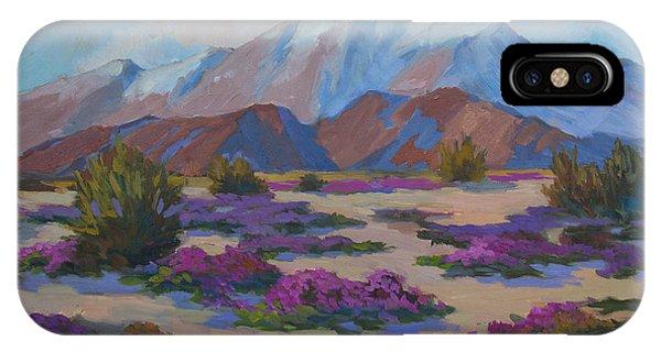 Mt. San Jacinto And Verbena IPhone Case