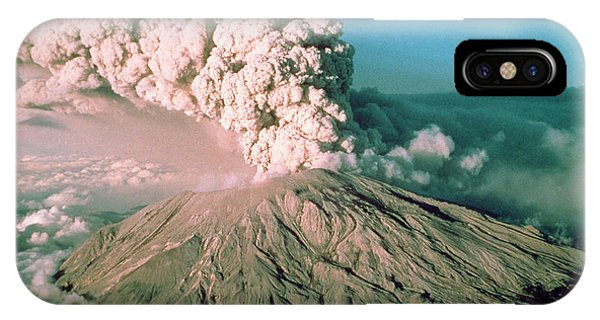 Pyroclastic Flow iPhone Case - Mt. St Helens Eruption by Prof. Stewart Lowther/science Photo Library.