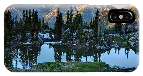 Mt. Timpanogos At Sunrise From Silver Glance Lake IPhone Case