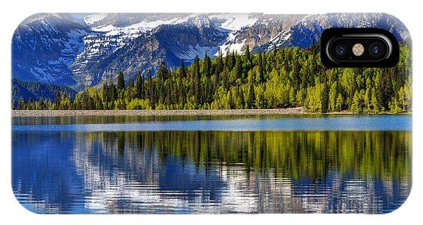 Mt. Timpanogos Reflected In Silver Flat Reservoir - Utah IPhone Case