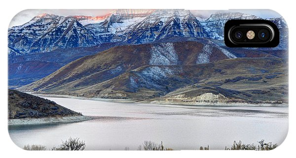Mt. Timpanogos Winter Sunrise IPhone Case
