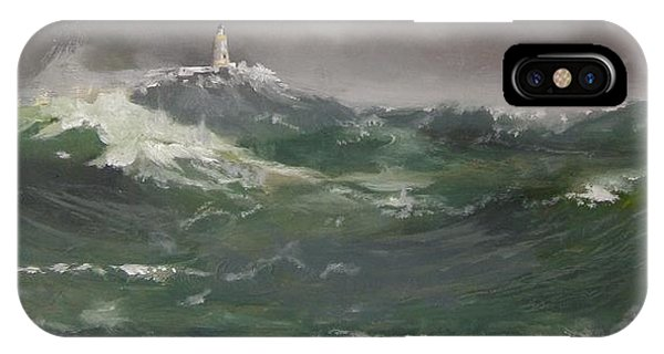 Muckle Flugga Lighthouse Shetland IPhone Case
